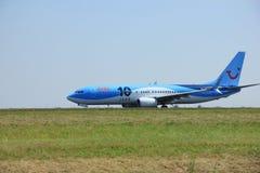 Amsterdam Nederländerna - Juni 12 2015: PH-TFC Arke Boeing 73 Royaltyfria Foton