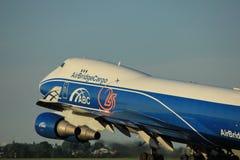 Amsterdam Nederländerna - Juni 1st, 2017: VQ-BUU AirBridgeCargo Boeing Arkivfoton