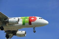 Amsterdam Nederland - April, 19de 2018: Cs-TTD TAP - de Luchtbus A319-100 van Luchtportugal Royalty-vrije Stock Afbeelding