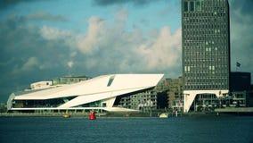 AMSTERDAM, NEDERLAND - DECEMBER 26, 2017 De het Instituutsbouw van de OOGfilm Stock Afbeelding