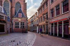AMSTERDAM, NEDERLAND - 10 JUNI, 2014: Mooie sreets van Amsterdam op de zomerdag Stock Afbeelding