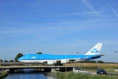 Amsterdam, Nederland - Juni negende 2016: Ph-BFK KLM Koninklijke Dut Royalty-vrije Stock Foto's