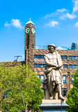 Amsterdam, Nederland - Mei 28, 2015: Monument Rembrandt op een zonnige dag Royalty-vrije Stock Foto