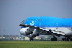 Amsterdam Nederland - Mei zesde, 2017: Ph-BFE Boeing 747 Stock Fotografie