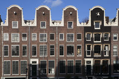 Amsterdam, the Nederlands - august 18. 2015 - sloping houses in Stock Images
