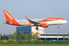 Airbus a320 from Easyjet stock images