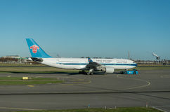 AMSTERDAM, NETHERLAND - NOVEMBER 28, 2016: B-6515 Airbus A330 China Southern Airlines Ready to take off in Amsterdam Airport Schip Royalty Free Stock Photo
