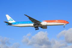 KLM 777. Amsterdam/Netherland Oktober 29, 2016: KLM 777 taxing at Amsterdam Airport Royalty Free Stock Image