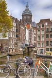 Group of People at Tourist Boat Attraction in Amsterdam Royalty Free Stock Photography