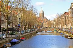 Amsterdam in the Netherlands Stock Photo