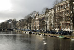 Amsterdam, The Netherlands. Special light on Amsterdam canals Stock Photos