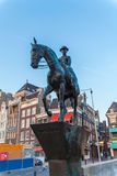 AMSTERDAM, NETHERLANDS - APRIL 3, 2008: The equestrian statue of Stock Photography