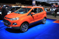Amsterdam, The Netherlands - April 23, 2015: Ford Eco Sport at e. Amsterdam, The Netherlands - April 23, 2015: Ford eco sport  on display at the 2015 Amsterdam Royalty Free Stock Photo