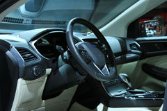 Amsterdam, The Netherlands - April 23, 2015: Ford Edge interior Royalty Free Stock Image