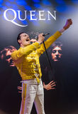 AMSTERDAM, NETHERLANDS - APRIL 25, 2017: Freddie Mercury wax sta stock photography
