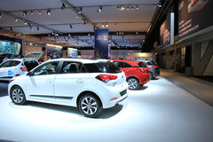 Amsterdam, The Netherlands - April 23, 2015: Hyundai stand at ex Royalty Free Stock Images