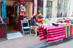 AMSTERDAM,NETHERLANDS-APRIL 27:  Local people display their things for sale on King's Day on April 27, 2015 in Amsterdam. Stock Image