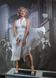 AMSTERDAM, NETHERLANDS - APRIL 25, 2017: Marilyn Monroe wax stat. Ue in Madame Tussauds museum on April 25, 2017 in Amsterdam Netherlands stock photos