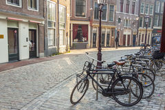 AMSTERDAM, NETHERLANDS - APRIL 22: Narrow pathway  Stock Images