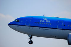 Amsterdam the Netherlands - April 2nd, 2017: PH-AOM KLM Royal Dutch Airlines Royalty Free Stock Photography