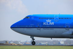 Amsterdam the Netherlands - April 2nd, 2017: PH-BFI KLM Royal Dutch Airlines Royalty Free Stock Image