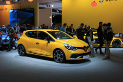Amsterdam, The Netherlands - April 23, 2015: Renault Clio at sta Stock Image