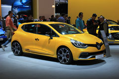 Amsterdam, The Netherlands - April 23, 2015: Renault Clio at sta Stock Photos