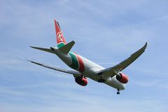 Amsterdam the Netherlands - April, 19th 2018: 5Y-KZC Kenya Airways Boeing Stock Images