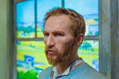 AMSTERDAM, NETHERLANDS - APRIL 25, 2017: Vincent van Gogh wax st. Atue in Madame Tussauds museum on April 25, 2017 in Amsterdam Netherlands Royalty Free Stock Photo
