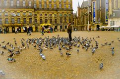 AMSTERDAM, NETHERLANDS, APRIL, 23 2018: World war II National monument on Dam square. A national Remembrance of the Dead Royalty Free Stock Photo