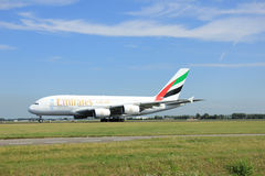 Amsterdam, The Netherlands - August 7 2015: A6-EDI Emirates Airb Stock Photography