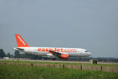Amsterdam, The Netherlands - August 10 2015: G-EZWA easyJet Airb Royalty Free Stock Photos