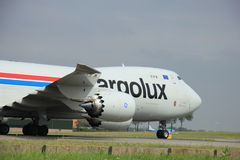 Amsterdam, The Netherlands - August 10 2015: LX-VCG Cargolux Air Royalty Free Stock Images