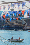 Amsterdam, Netherlands - August 20: SAIL Amsterdam 2015 the biggest sail event in the world Royalty Free Stock Photo