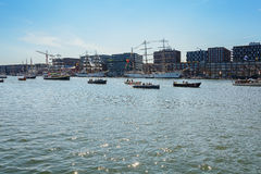 Amsterdam, Netherlands - August 20: SAIL Amsterdam 2015 the biggest sail event in the world Stock Photos