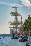 Amsterdam, Netherlands - August 20: SAIL Amsterdam 2015 the biggest sail event in the world. Amsterdam, Netherlands - August 20: SAIL Amsterdam 2015 is an Stock Image