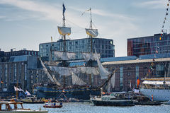 Amsterdam, Netherlands - August 20: SAIL Amsterdam 2015 the biggest sail event in the world. Amsterdam, Netherlands - August 20: SAIL Amsterdam 2015 is an Stock Photography