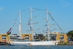 Amsterdam, Netherlands - August 20: SAIL Amsterdam 2015 the biggest sail event in the world. Amsterdam, Netherlands - August 20: SAIL Amsterdam 2015 is an Royalty Free Stock Images