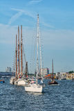Amsterdam, Netherlands - August 20: SAIL Amsterdam 2015 the biggest sail event in the world Royalty Free Stock Photos