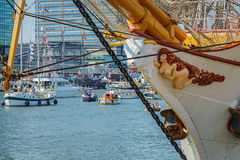 Amsterdam, Netherlands - August 20: SAIL Amsterdam 2015 the biggest sail event in the world Royalty Free Stock Images