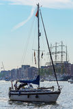 Amsterdam, Netherlands - August 20: SAIL Amsterdam 2015 the biggest sail event in the world Royalty Free Stock Photography