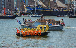Amsterdam, Netherlands - August 20, 2015: SAIL Amsterdam 2015 the biggest sailing event in the world Royalty Free Stock Photography