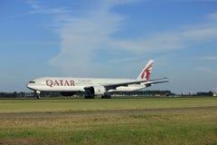 Amsterdam, the Netherlands - August, 18th 2016: A7-BAY Qatar Airways Boeing 777 Stock Photos