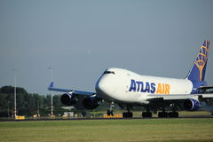 Amsterdam, the Netherlands - August, 18th 2016: N496MC Atlas Air Boeing 747-47UF Royalty Free Stock Images