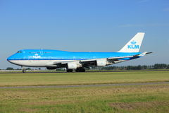 Amsterdam, the Netherlands - August, 18th 2016: PH-BFD KLM Royal Dutch Airlines Boeing 747-406M Royalty Free Stock Images