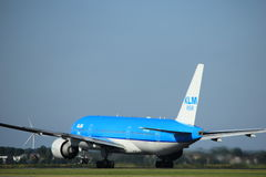 Amsterdam, the Netherlands - August, 18th 2016: PH-BQN KLM Boeing 777 royalty free stock photo