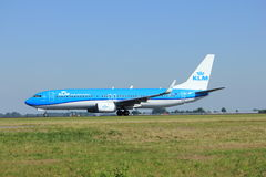 Amsterdam, the Netherlands - August, 18th 2016: PH-BXZ KLM Boeing 737 stock photography