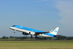 Amsterdam, the Netherlands - August, 18th 2016: PH-EZW  KLM Embraer Stock Photo