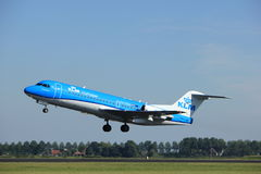 Amsterdam, the Netherlands - August, 18th 2016: PH-KZU  KLM Cityhopper. Amsterdam, the Netherlands  - August, 18th 2016: PH-KZU  KLM Cityhopper Fokker F70 Stock Images
