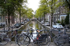 AMSTERDAM; THE NETHERLANDS - AUGUST 18; 2015: View on beautiful Stock Photography